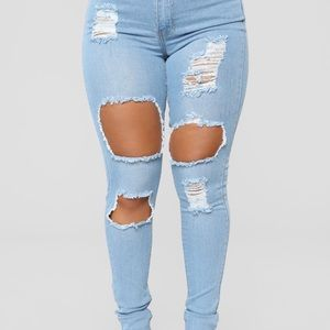 Fashion Nova High Rise Jeans